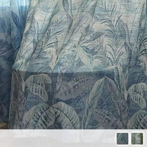 水墨風グラデーションドレープカーテン