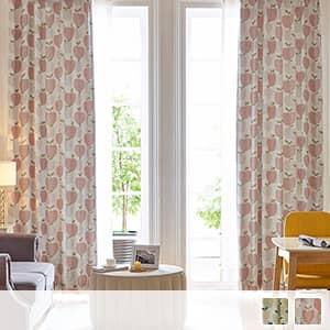 林檎柄の北欧風遮光カーテン
