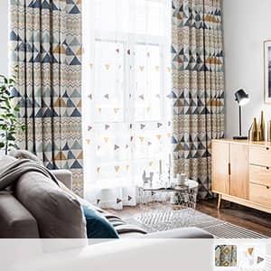 明るい北欧テイストのカーテン