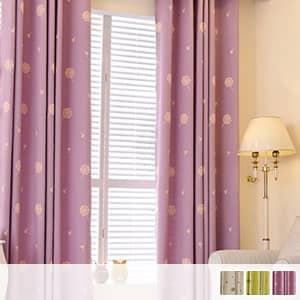 可愛いタンポポ刺繍のドレープカーテン