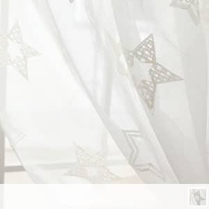 様々な星模様のレースカーテン