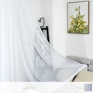 シンプルな無地ホワイトカーテン