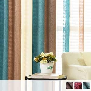 アメリカンスタイリングのシュニール素材ドレープカーテン
