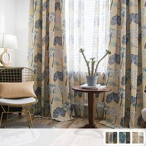 絵本タッチの北欧デザインドレープカーテン